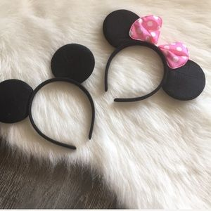 NWOT Mickey Mouse and Minnie Mouse eat headbands